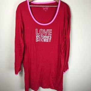 Victoria's Secret Red Night Gown Size XL